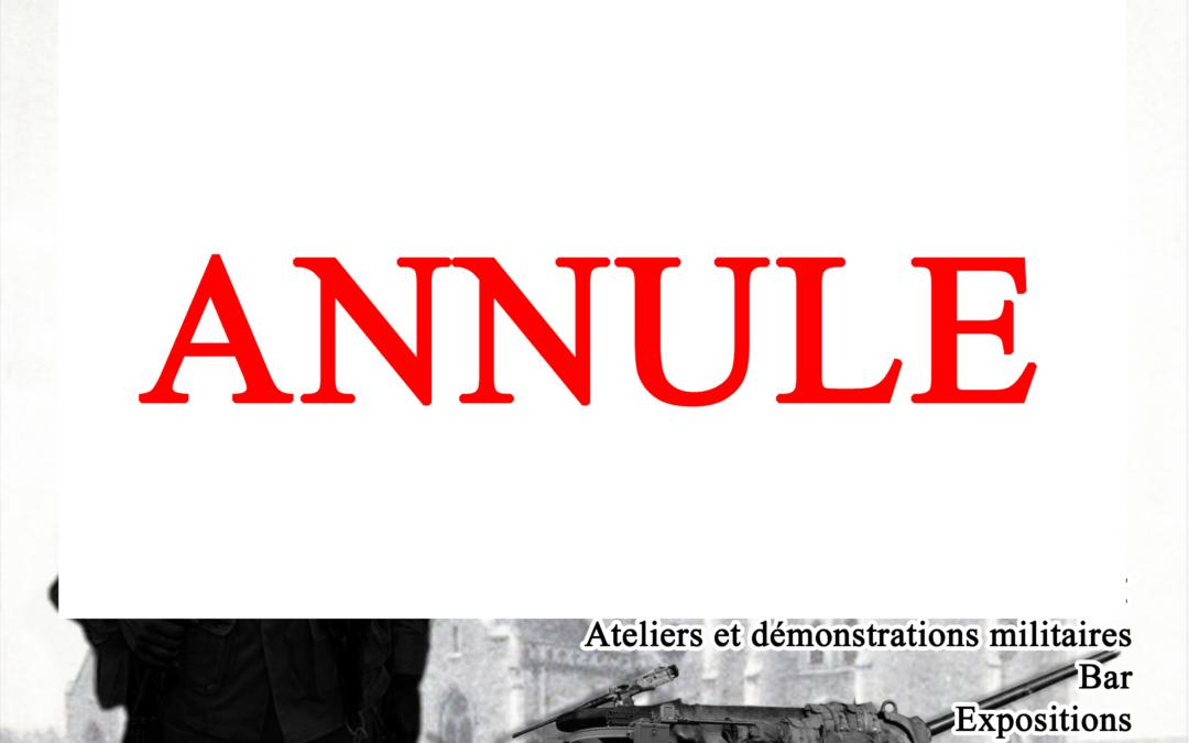 Camp de reconstitution 2021 : annulation
